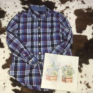 boys plaid shirt bundle | size 8